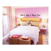 Party Like a Rock Star Wall Stickers Decal Words Quote