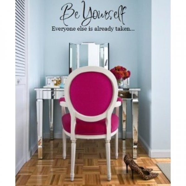 Be yourself wall decal vinyl [1214IKPV7VQ] | data_HomeDecor_Be yourself wall decal vinyl.jpg