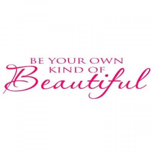 Be Your Own Kind of Beautiful quote wall saying Marilyn Monro... [0423IN7XKVQ] | data_HomeDecor_beyourpink.jpg