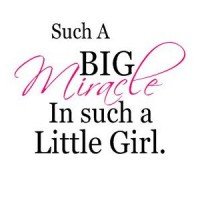 Such a big miracle for such a little girl(pink) vinyl decal wall saying