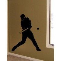 4 ft tall baseball player vinyl decal