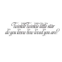 Twinkle Twinkle little star vinyl decal