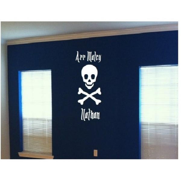 Jolly Roger Arr Matey personalized with name [0221IJMFMJE] | data_Kids_Jolly Roger custom name.jpg