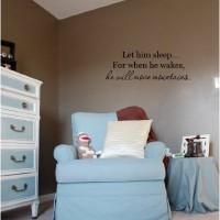 Let him sleep for when he wakes quote vinyl decal sticker