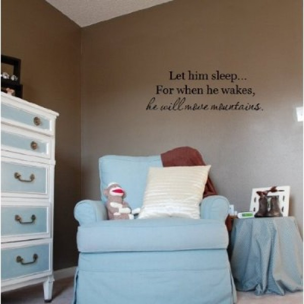 Let him sleep for when he wakes quote vinyl decal sticker [0223IKR64H2] | data_Kids_Let him sleep for when he wakes.jpg
