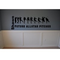 Personalized Baseball pitcher line up Future all Star Pitcher vinyl decal