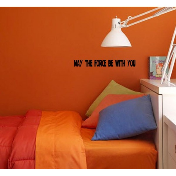 May the Force Be With (22 x 2) Vinyl Wall Art Decal - Black [1020IG8KB88]   data_Kids_maytheforce.jpg
