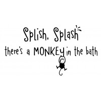 Splish Splash There's a Monkey In The Bath 22x12in