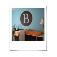 Monogram letter in circle vinyl decal