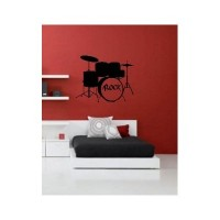 Vinyl Wall Decal Sticker Drum Rock Set