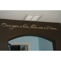Once upon a time there was a prince/princess wall saying vinyl decal nursery