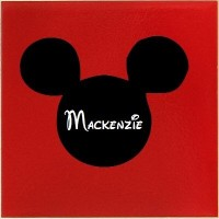 Mickey mouse ears with name personalized vinyl decals
