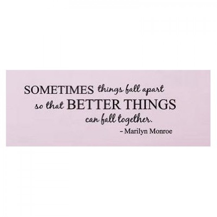 Sometimes things fall apart Marilyn Monroe Quote wall decal ...