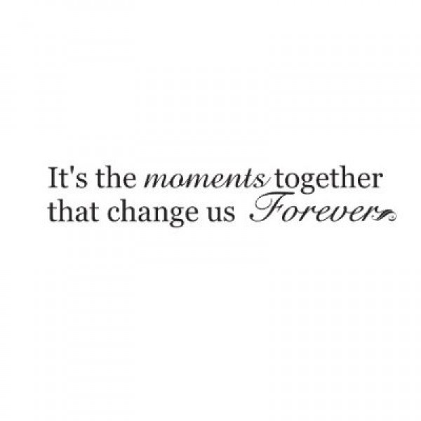 It\'s the moments together that change us forever 45x9 Vinyl Lettering Wall Sa... [0217IH4CLT8] | data_Quotes_31GfAV-MEUL._SS400_.jpg