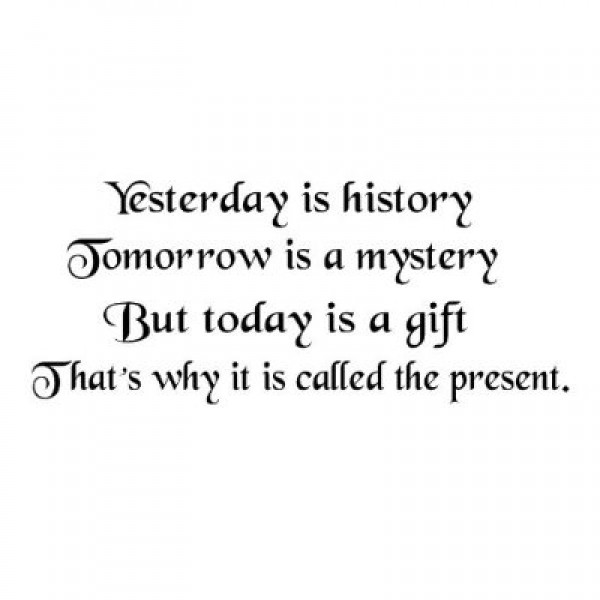 Yesterday is History quote 22x10 wall saying vinyl decal letters [0423IN7QJGE] | data_Quotes_41FMs1BtLZL._SS400_.jpg