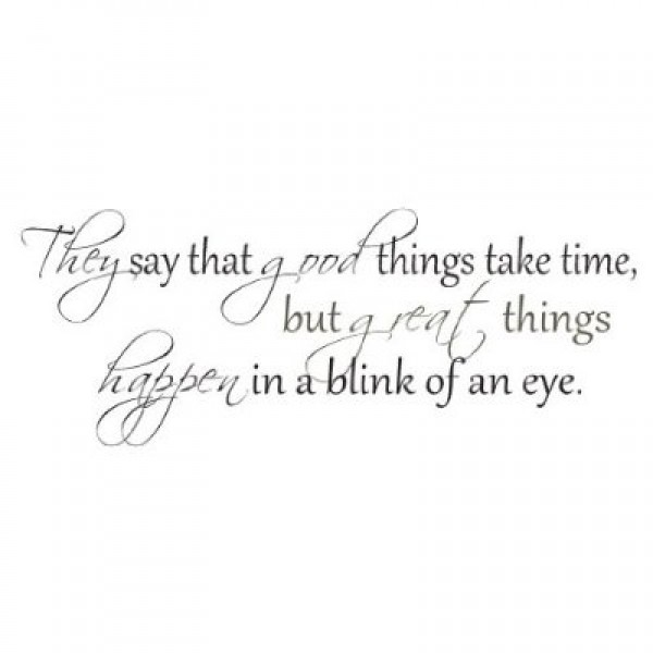 They say good things take time wall quote vinyl decal [0826IWL0SVQ] | data_Quotes_41GjSrPRsUL._SS400_.jpg