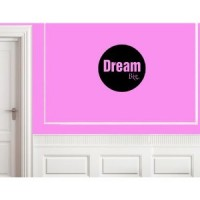 DREAM BIG  Vinyl wall lettering stickers quotes and sayings home art decor decal