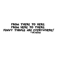 From there to here 22x10 wall saying quote vinyl decal
