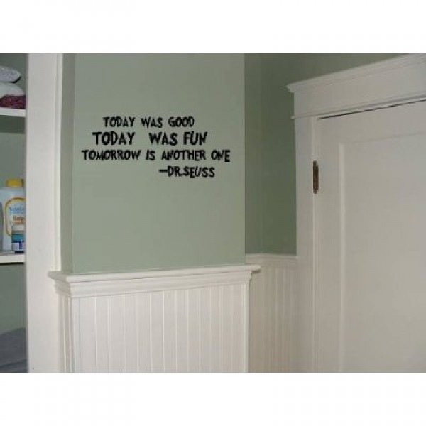 Today was good 22x10 wall saying quote vinyl decal