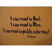 I can read in red 22x11 wall quote wall Saying vinyl decal