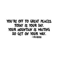 You're off to great places Seuss font 22x12