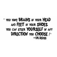 You have brains in your head 28x10 inches