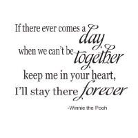 If there ever comes a day Winnie the Pooh 22x14 wall saying vinyl wall decals