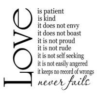 Love is Patient Love is Kind 22x20 vinyl wall sayings quotes stickers