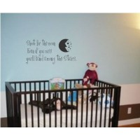 Shoot for the Moon - Kids / Nursery Vinyl Wall Art Decal Sticker Decor Children
