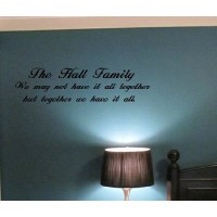 Custom Family Name We May Not Have It All Together Vinyl Wall Decal Sticker...