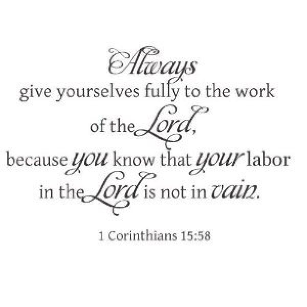1 Corinthians 15:58 Bible verse wall saying vinyl decal [0610IDDMYXE] | data_Religious_41gCgG+HnrL._SL500_AA300_.jpg