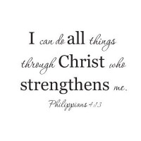 I can do all things through Christ who strengthens me Philippians 4:13 wall d...