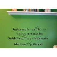 Precious One so small so sweet wall saying quote vinyl decal nursery decor