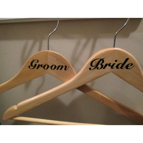 Bride and Groom Hanger Decals [BrideGroomHangers] | data_Wedding_BrideGroom.jpg