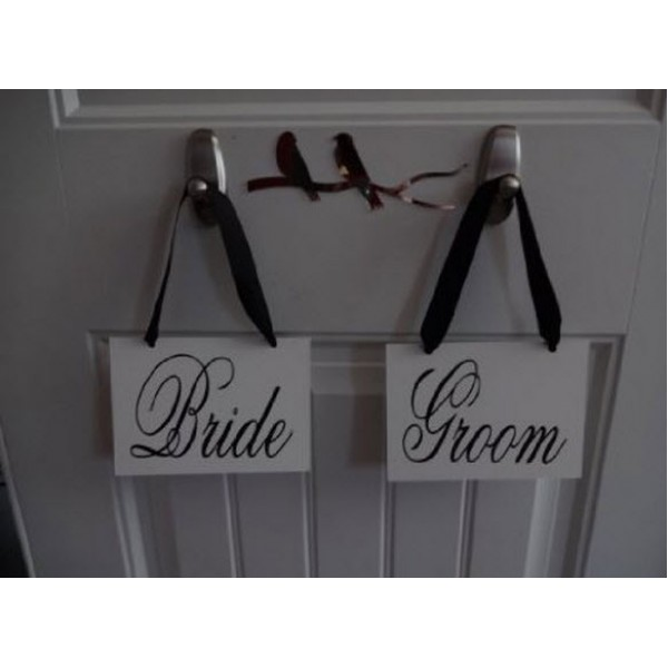 Wedding Signs For Thank You Photos [BrideGroomSign] | data_Wedding_BrideGroomSignFront1.jpg