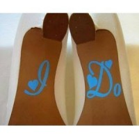 I Do for wedding shoes- baby blue