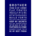 BROTHERS vinyl decal wall stickers [0000000012]