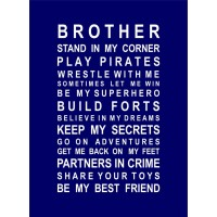 BROTHERS vinyl decal wall stickers