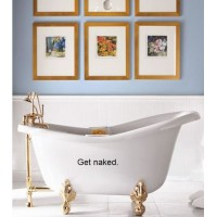 Get Naked  Bath ROOM....WALL WORDS QUOTES SAYINGS ART LETTERING, BLACK
