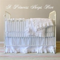 A Princess Sleeps Here 38x8 (Elegant font) Wall Quote Words Lettering Sticker...