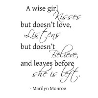 A wise girl...Marilyn Monroe Wall Quote Words Sayings Removable Wall Letterin...