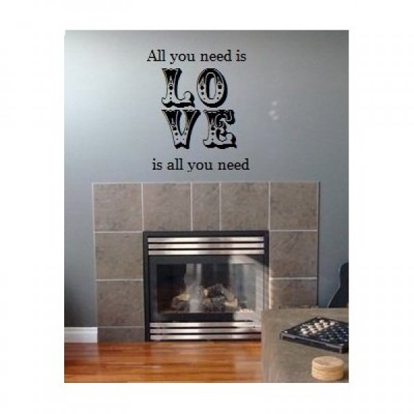 All you need is Love 22x24 wall saying vinyl lettering decal [0326I3BZVQE] | data_k_All you need is Love 22x24.jpg