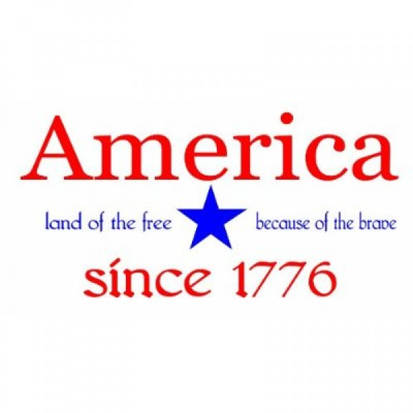America land of the free because of the brave since 1776 wall saying vinyl decal [0331I6NDR2E] | data_k_America land of the free because of the brave since 1776.jpg