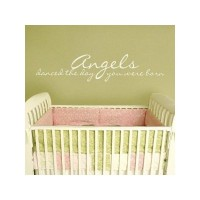 Angels Danced the Day You Were Born 30x7 all Appliqué quote wall sayings