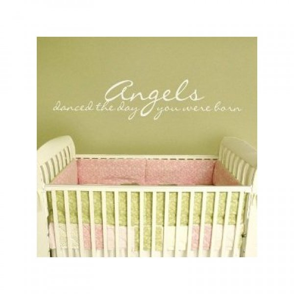 Angels Danced the Day You Were Born 30x7 all Appliqué quote wall sayings [0203IAG0L18] | data_k_Angels Danced the Day You Were Born 30x7 all Appliqué quote wall sayings.jpg