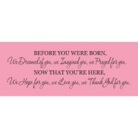 Before you were born 30x15 vinyl decal quote wall saying