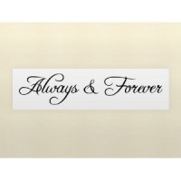 ALWAYS & FOREVER 22X4 wall art quote decal