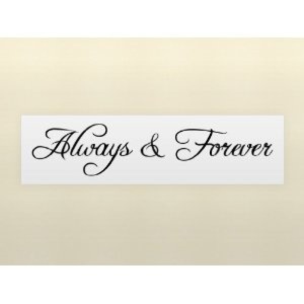 ALWAYS & FOREVER 22X4 wall art quote decal [1017ICZ8K92] | data_k_always and forever.jpg
