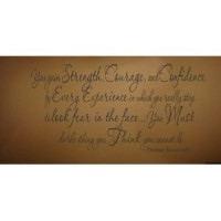 Eleanor Roosevelt - You gain Strength, Courage, and Confidence...