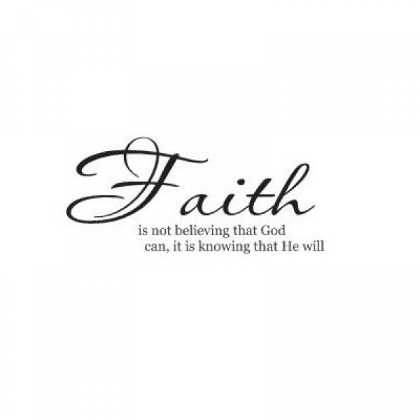 Faith is not believing wall saying vinyl decal bible verse [0916IK62612] | data_lori_Faith is not believing wall saying vinyl decal bible verse.jpg
